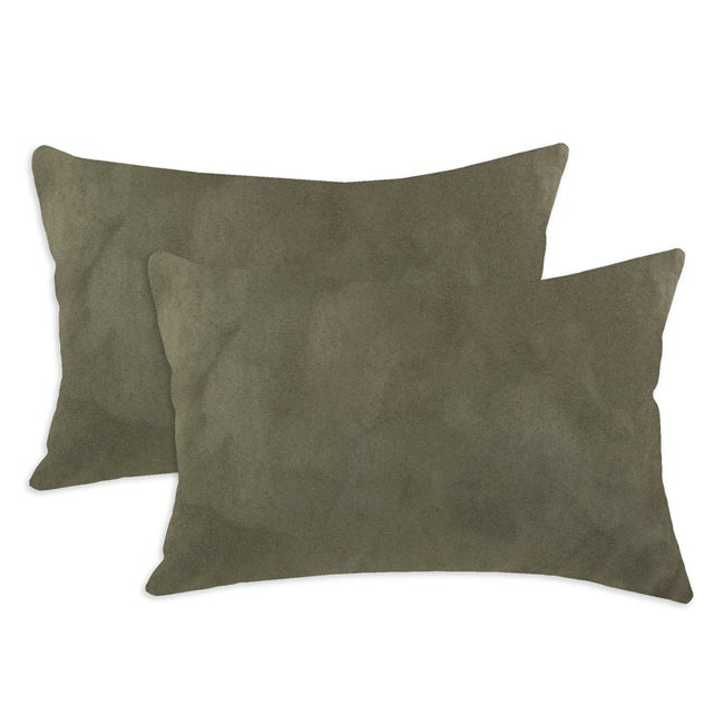 Slam Dunk Olive Simply Soft S-backed 12.5x19 Fiber Pillows (Set of 2)