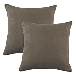 Slam Dunk Khaki Simply Soft S-backed 17x17 Fiber Pillows (Set of 2)