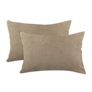 Slam Dunk Khaki Simply Soft S-backed 12.5x19 Fiber Pillows (Set of 2)