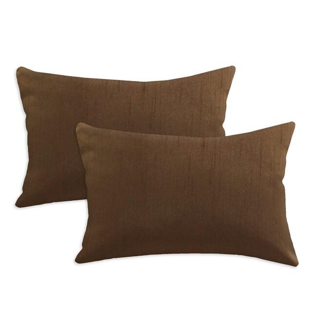 Shantung Walnut S-backed 12.5x19 Fiber Pillows (Set of 2)