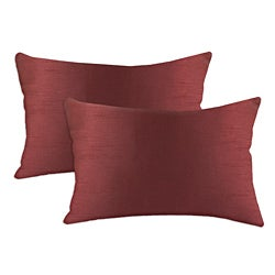 Shantung Vin Burgandy S-backed 12.5x19 Fiber Pillows (Set of 2)