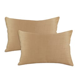 Shantung Almond S-backed 12.5x19 Fiber Pillows (Set of 2)