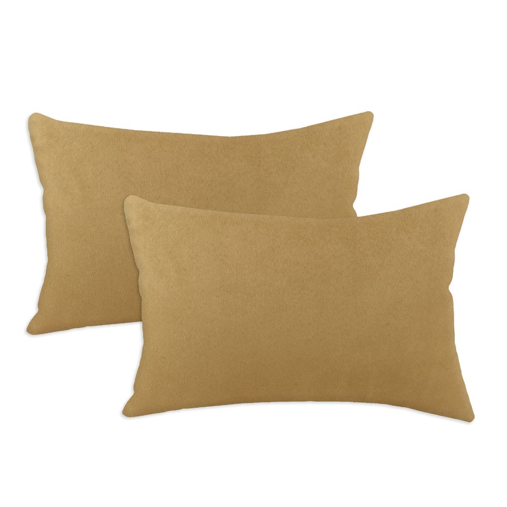 Passion Suede Tuscan Simply Soft S-backed 12.5x19 Fiber Pillows (Set of 2)