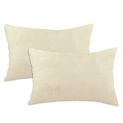 Passion Suede Oyster Cream Simply Soft S-backed 12.5x19 Fiber Pillows (Set of 2)