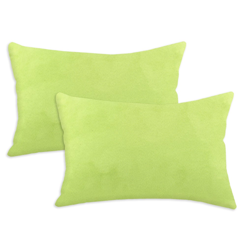 Passion Suede Lime Simply Soft S-backed 12.5x19 Fiber Pillows (Set of 2)