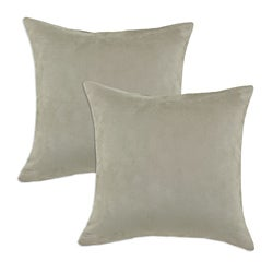 Passion Suede Lichen Tan S-backed 12.5x19 Fiber Pillows (Set of 2)