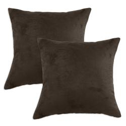 Passion Suede Hershey Simply Soft S-backed 17x17 Fiber Pillows (Set of 2)