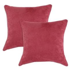 Passion Suede Dusty Rose Simply Soft S-backed 17x17 Fiber Pillows (Set of 2)
