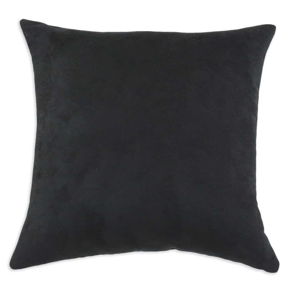Passion Suede Black Simply Soft S-backed 17x17 Fiber Pillows (Set of 2)