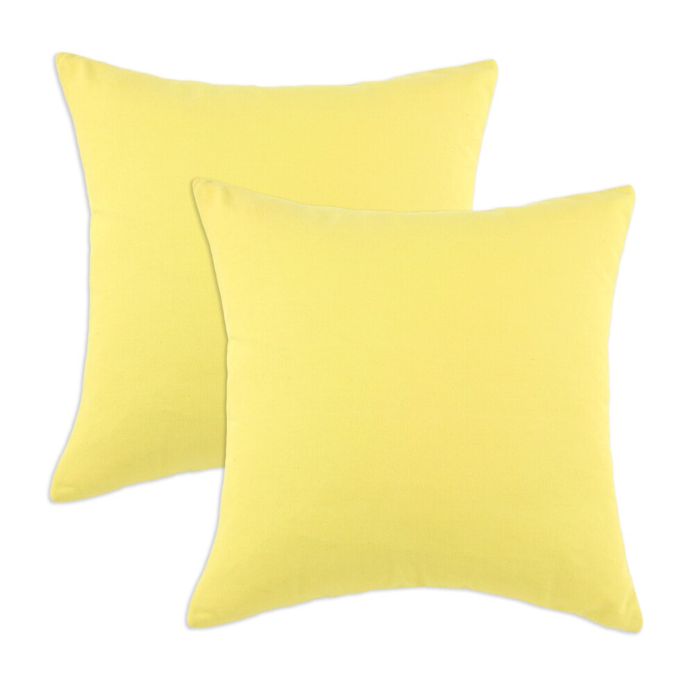 Duck Yellow S-backed 17x17-inch Fiber Pillows (Set of 2)