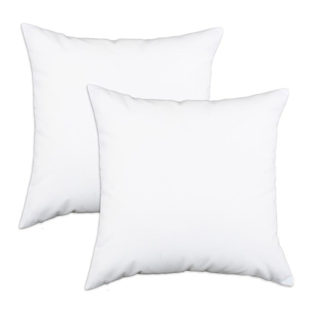 Duck White S-backed 17x17-inch Fiber Pillows (Set of 2)