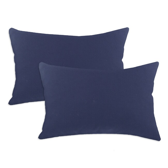 Duck Navy S-backed 12.5x19-inch Fiber Pillows (Set of 2)