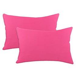 Duck French Pink S-backed 12.5x19-inch Fiber Pillows (Set of 2)