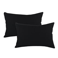 Duck Black S-backed 12.5x19-inch Fiber Pillows (Set of 2)