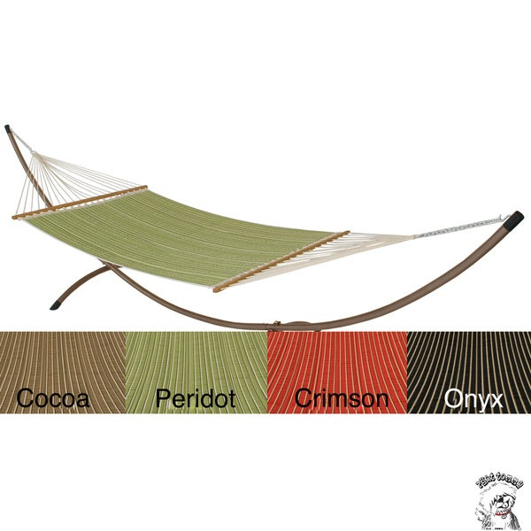 PHAT TOMMY Sunbrella Harwood Deluxe Quilted Reversible Hammock & Stand