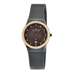Skagen Women's Twisted Topring Brown Dial Watch