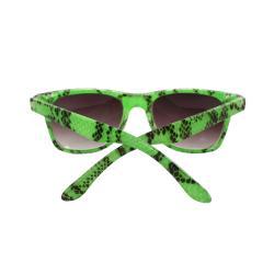 Kid's K3115-GNPB Oval Green Frame Fashion Sunglasses with Black Shatter Design