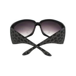 Stylish Wrap Sunglasses Black Frame Purple Black Lenses for Women and Men