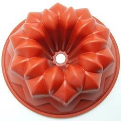 Freshware Galaxy Fluted Bundt Cake Silicone Mold and Pan