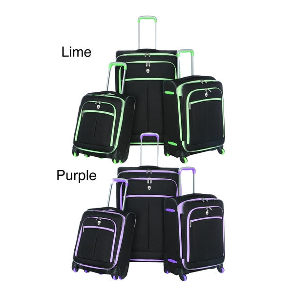 Olympia O-Tron 3-piece Spinner Luggage Set