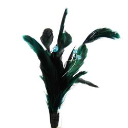 Fashion Glamour Blue Green Feather Pin/ Brooch (Thailand)
