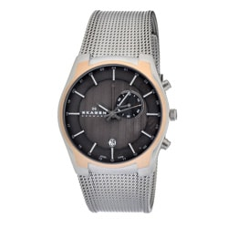 Skagen Men's Rose-gold Accent Watch