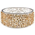 18k Gold 19 1/6ct TDW White and Fancy Mix Diamond Bangle (H-I, SI1)