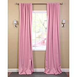 EFF Pink Polka Dot Blackout Back-tab Pole Pocket Curtain Panel