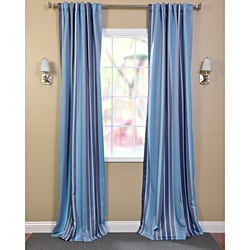Poolside Stripe Blackout Back-tab Pole Pocket Curtain Panel