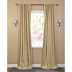 Pistachio Stripe Blackout Back-tab Pole Pocket Curtain Panel