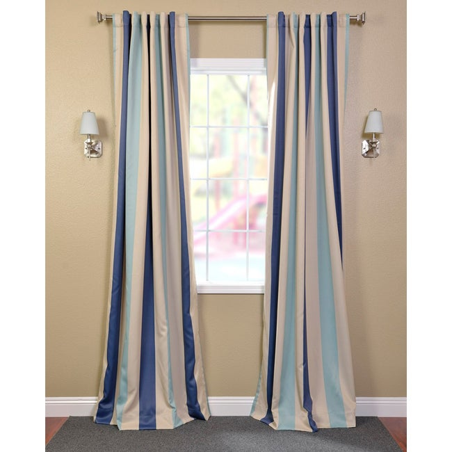 EFF Marco Polo Stripe Blackout Back-tab Pole Pocket Curtain Panel at Sears.com