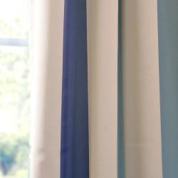 Marco Polo Stripe Blackout Back-tab Pole Pocket Curtain Panel