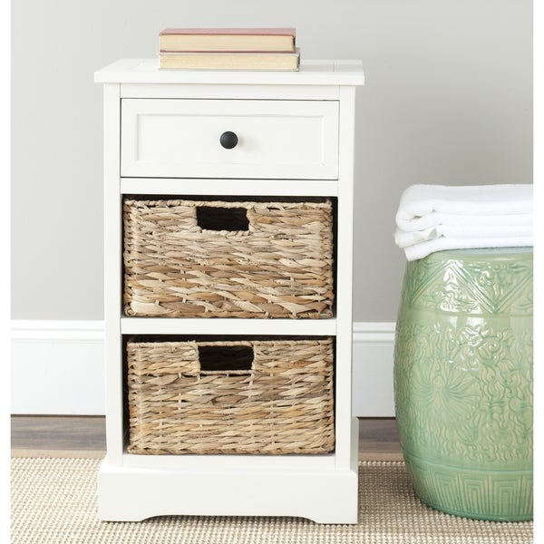Safavieh Cape Cod 3-Drawer Cream Storage Table