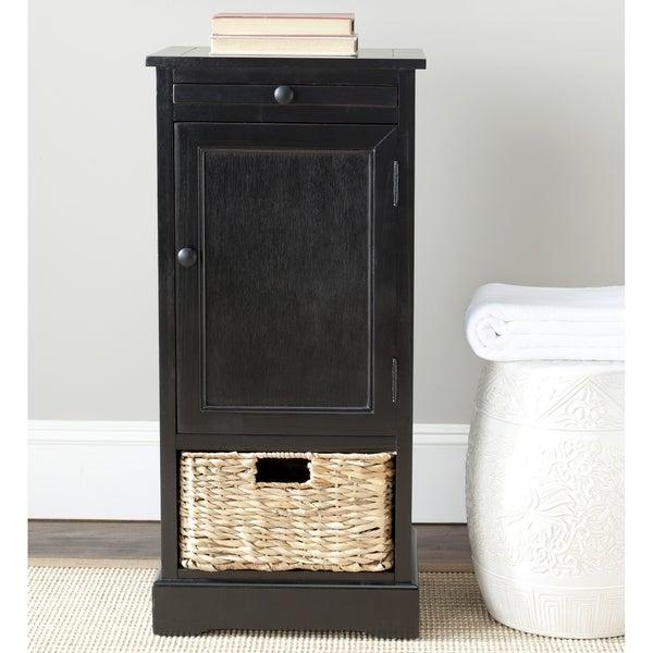 Safavieh Raven 2-drawer Black Tall Storage Unit