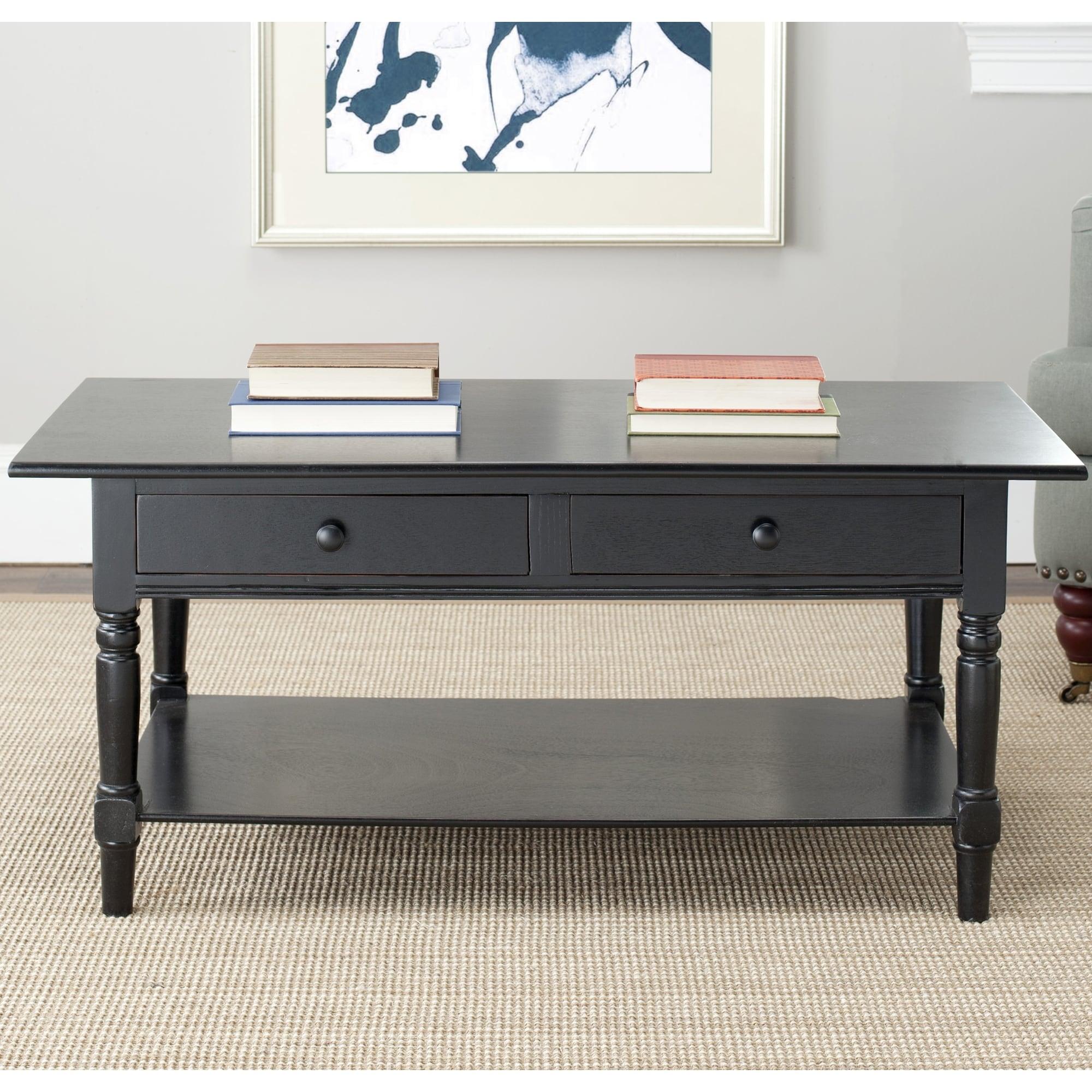 Safavieh Cape Cod Black 2-drawer Coffee Table at Sears.com