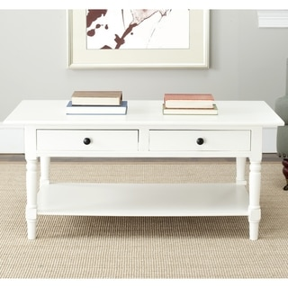 Safavieh Cape Cod Cream 2-drawer Coffee Table