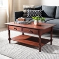 Safavieh Cape Cod Dark Cherry 2-drawer Coffee Table