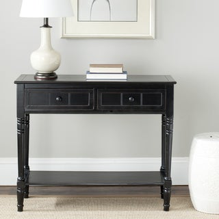 Cape Cod Black 2-drawer Console Table