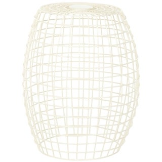 Safavieh Steelworks Grid Off-White Iron Stool