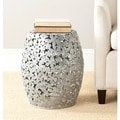 Steelworks Floral Silver Iron Stool