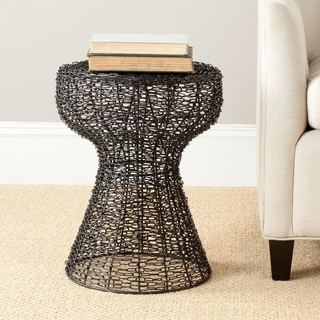 Safavieh Steelworks Iron Wire Black Matte Stool