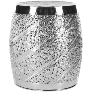Safavieh Steelworks Etched Nickel Plated Stool