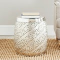 Steelworks Etched Nickel Plated Stool