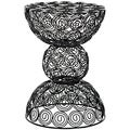 Safavieh Steelworks Iron Wire Swirls Black Stool