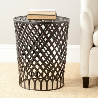 Safavieh Steelworks Basket Black Iron Stool