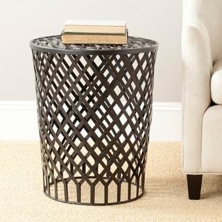 Safavieh Steelworks Basket Black Iron Stool