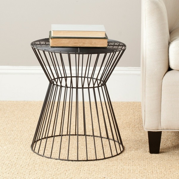 Safavieh Steelworks Iron Wires Black Stool 14485017