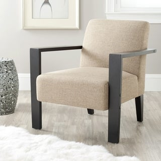 Safavieh Solo Beige Linen Arm Chair