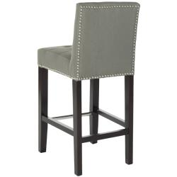 Safavieh Noho Grey Linen Nailhead Trim Counter Stool