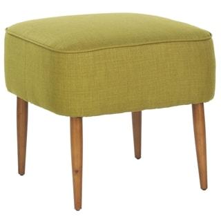 Safavieh Retro Green Linen Blend Ottoman